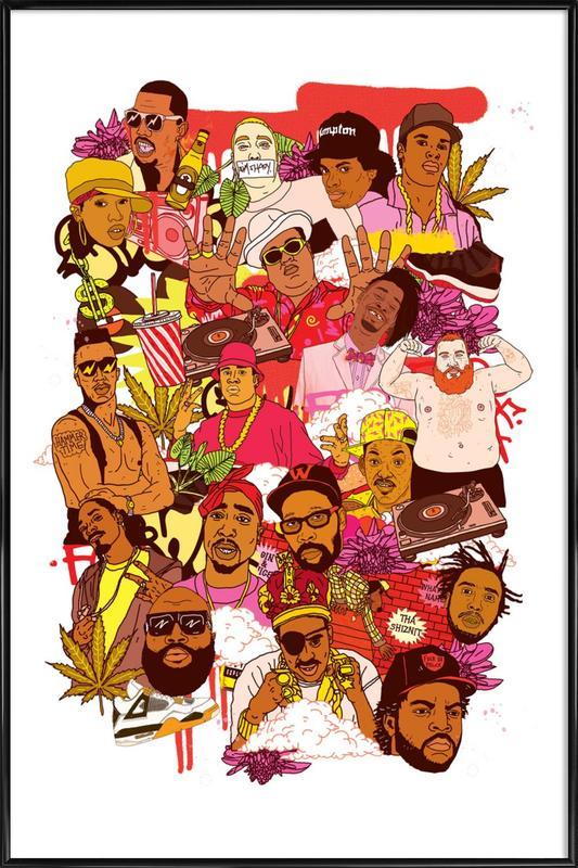 Rap Legends affiche encadrée