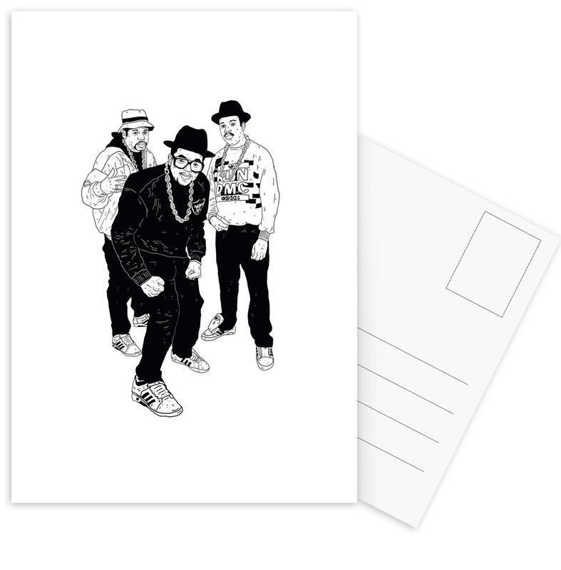 Zwart en wit, Grappig, Run ansichtkaartenset