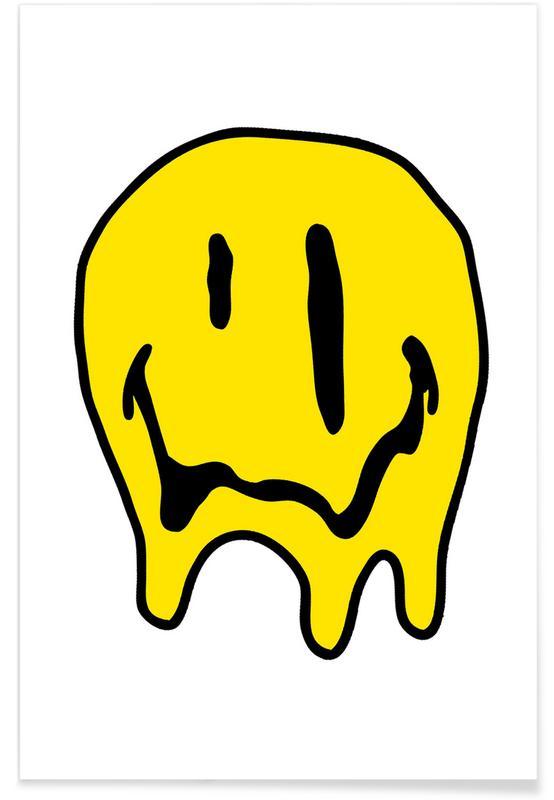 Lustig, Street Art, Smiley -Poster