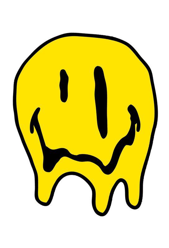 Smiley -Acrylglasbild