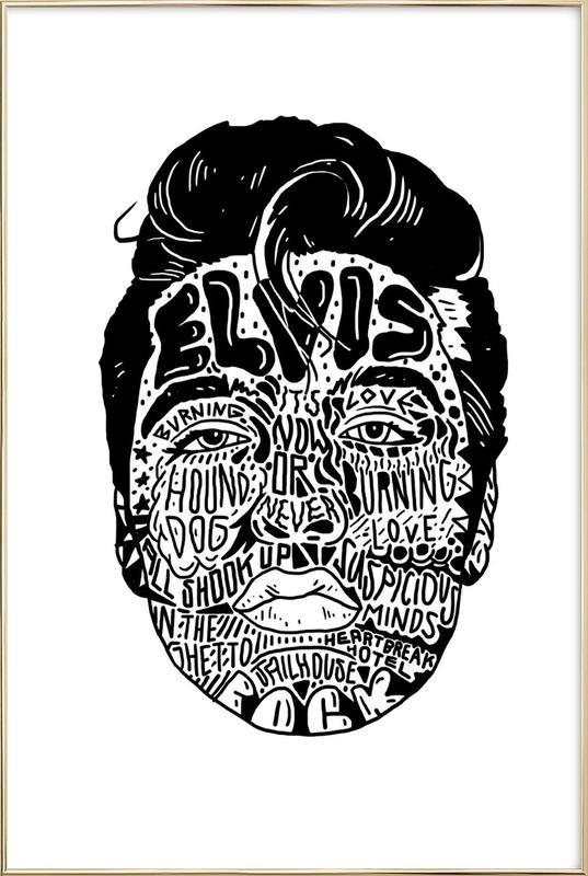 Elvis poster in aluminium lijst