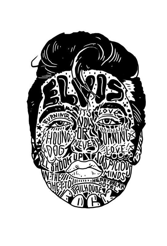 Elvis -Acrylglasbild