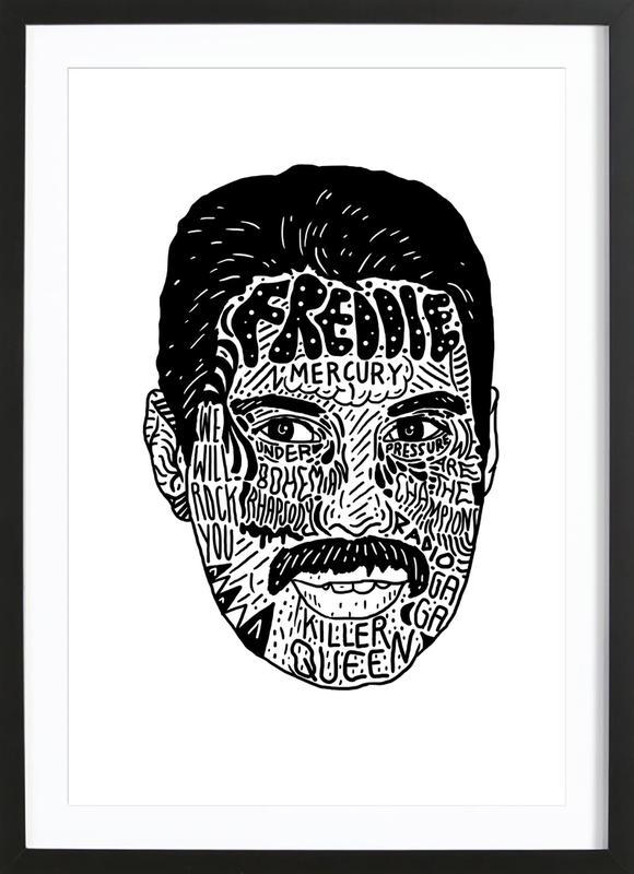 Freddie -Bild mit Holzrahmen