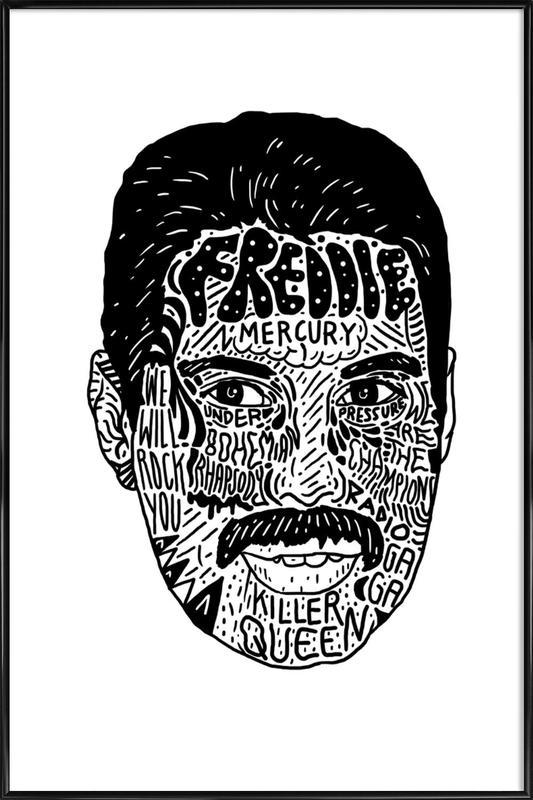 Freddie -Bild mit Kunststoffrahmen