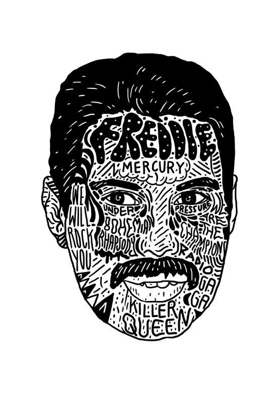 Freddie acrylglas print