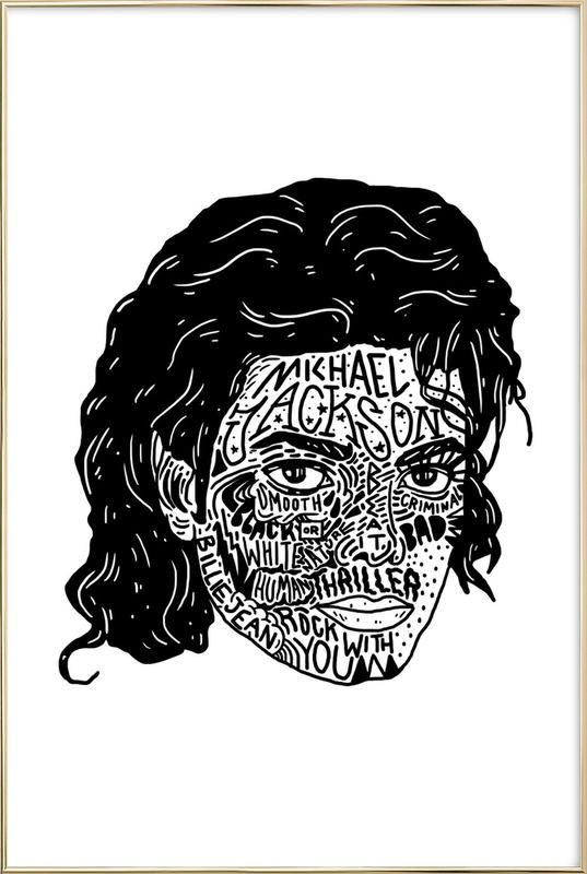 Mikey poster in aluminium lijst