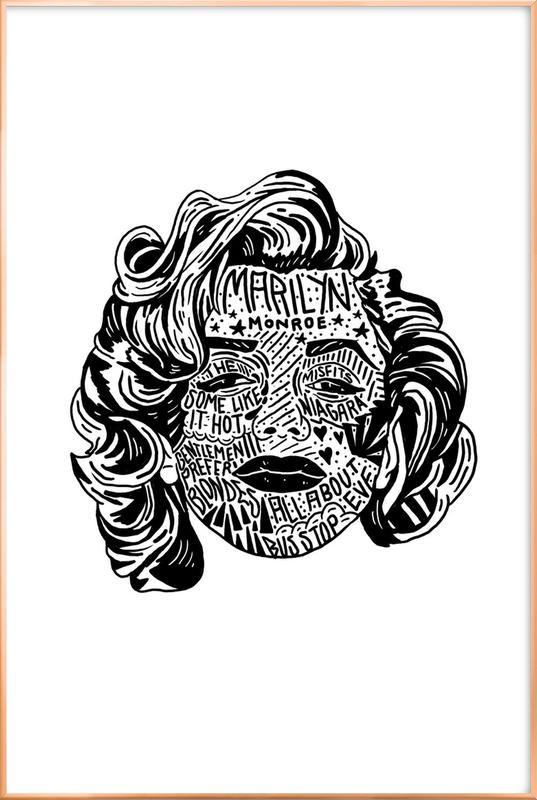 Marylin -Poster im Alurahmen