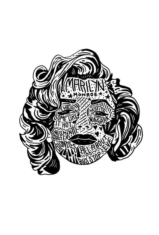 Marylin -Acrylglasbild