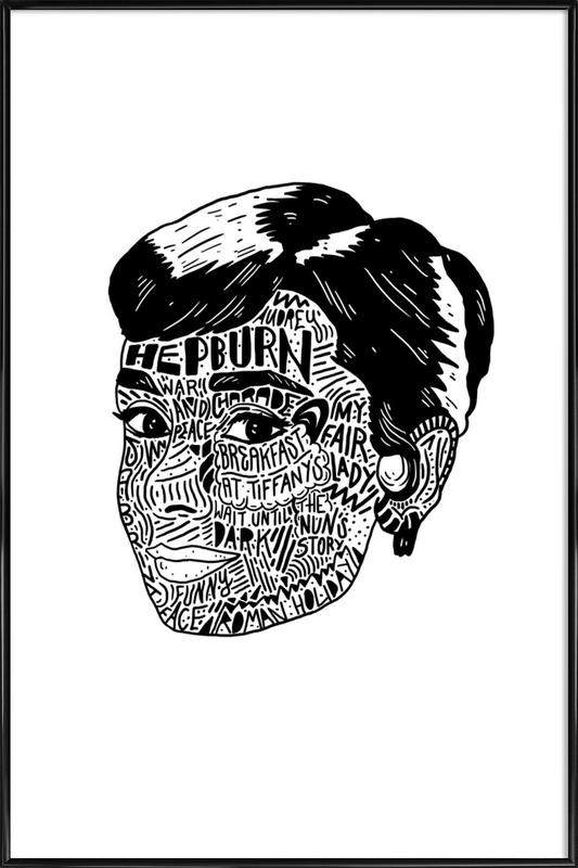 Audrey ingelijste poster