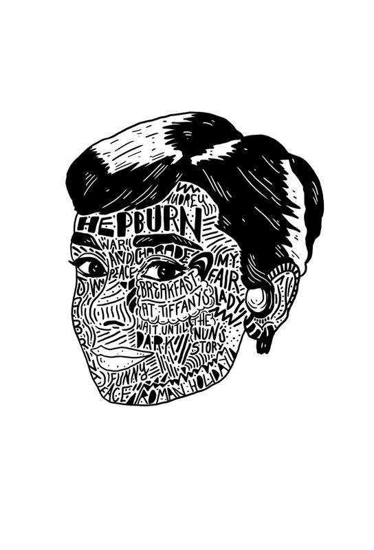 Audrey -Acrylglasbild