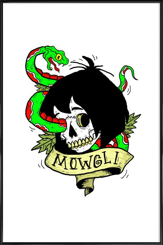 Mowgli affiche encadrée