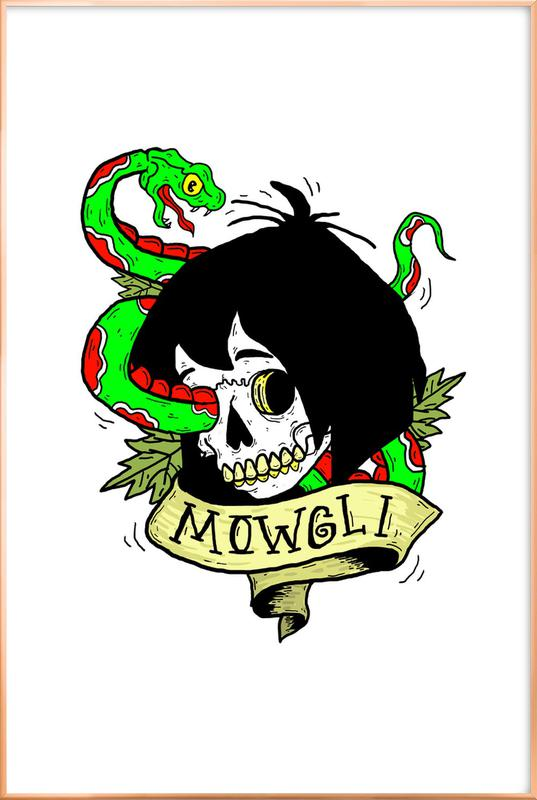 Mowgli poster in aluminium lijst
