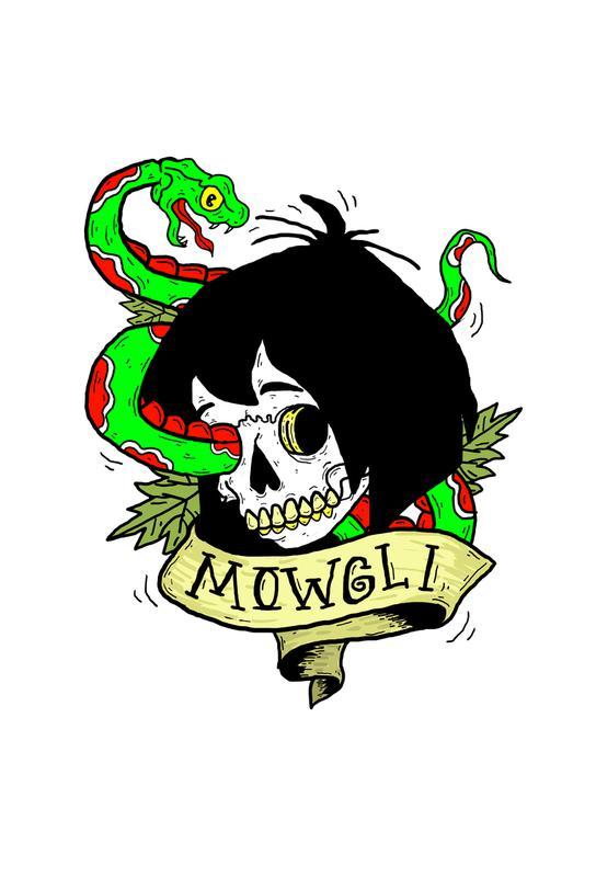 Mowgli -Acrylglasbild
