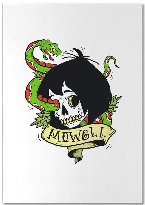 Movies, Street Art Style, Skulls, Mowgli Notepad