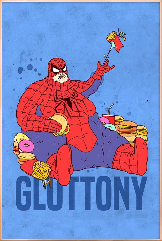Gluttony -Poster im Alurahmen