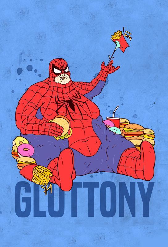 Gluttony Aluminium Print