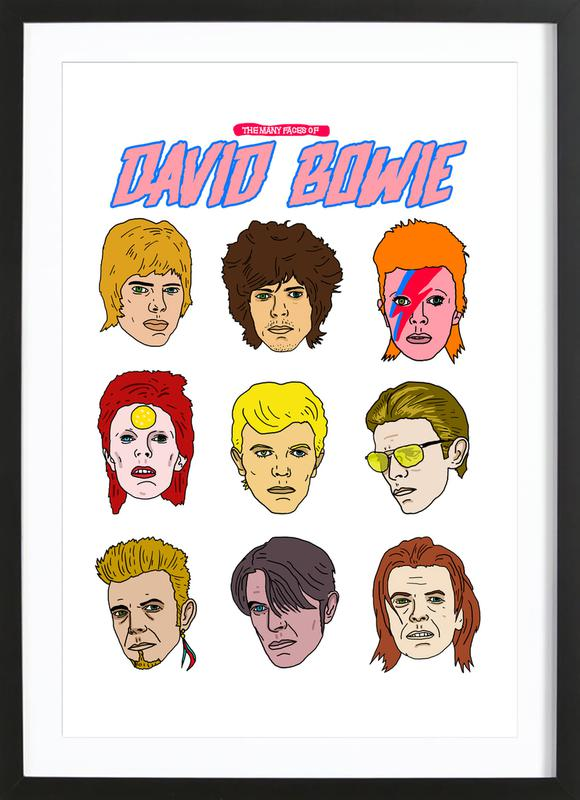 Bowie 2 ingelijste print