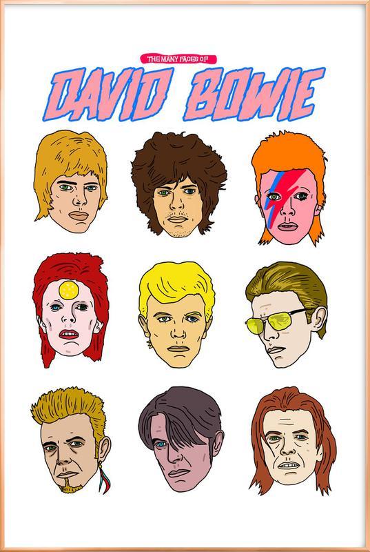 Bowie 2 poster in aluminium lijst
