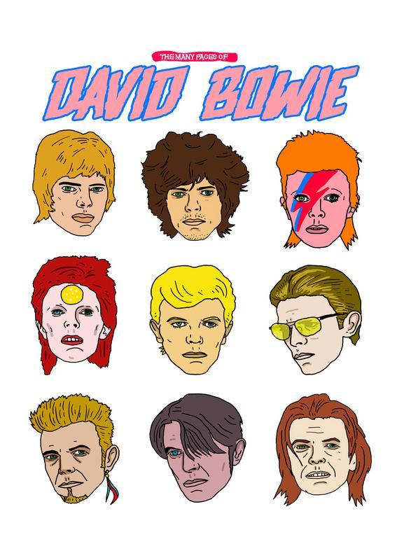 Bowie 2 canvas doek