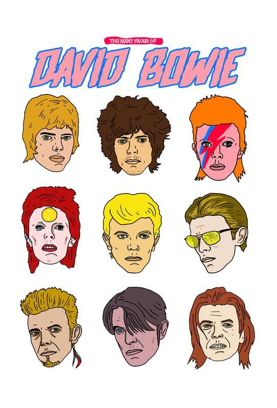 Bowie 2 Impression sur alu-Dibond