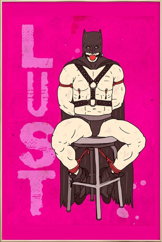 Lust -Poster im Alurahmen