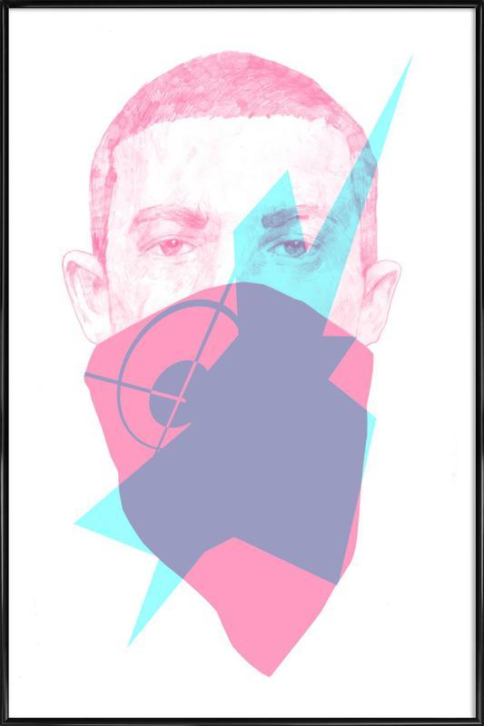 007 ingelijste poster