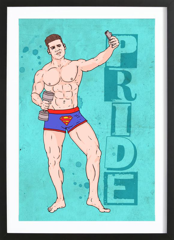 Pride -Bild mit Holzrahmen