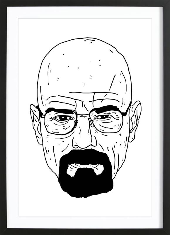 Walt -Bild mit Holzrahmen