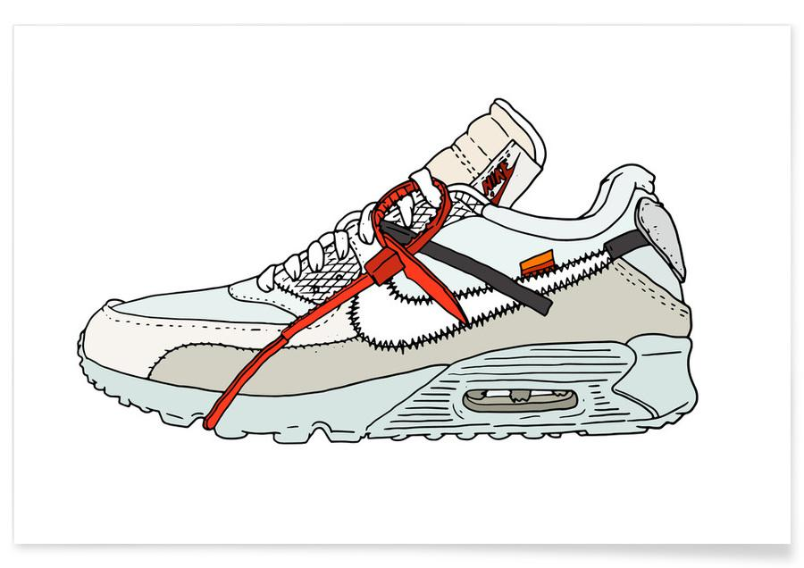 , Offwhite Airmax 90 -Poster
