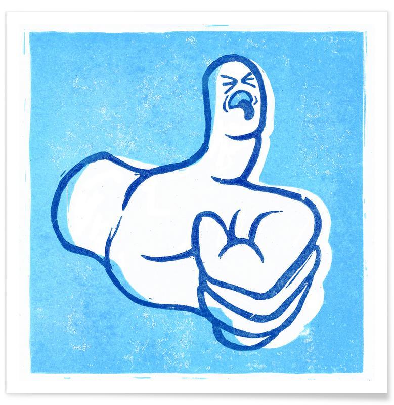 Lustig, Street Art, Thumbs Up! -Poster