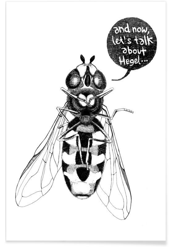 Sort & hvidt, Humor, Bier, Annoying Bee Plakat