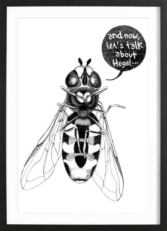 Annoying Bee Framed Print