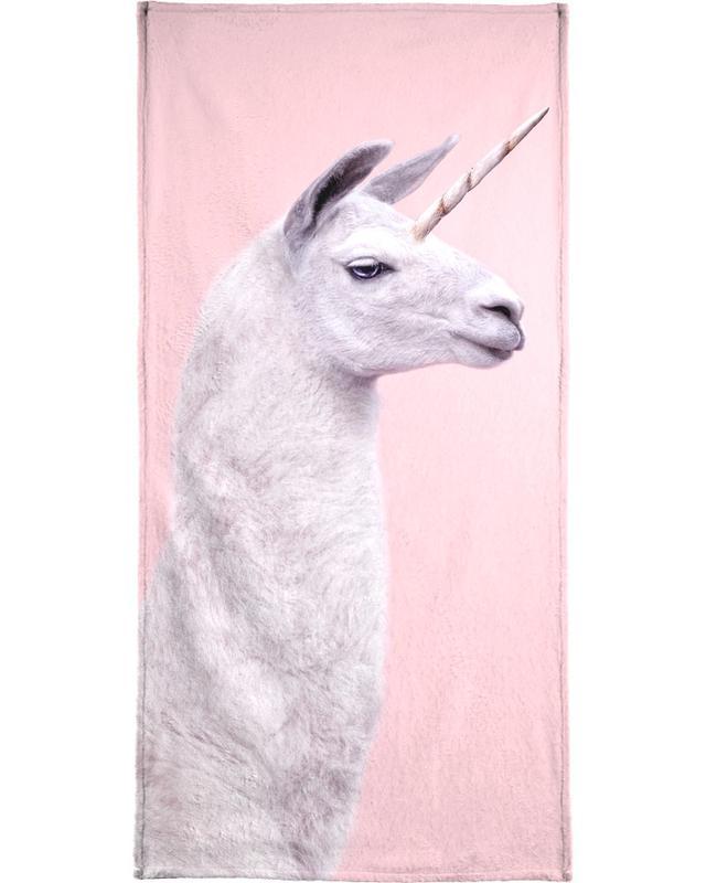 Llama Unicorn Beach Towel