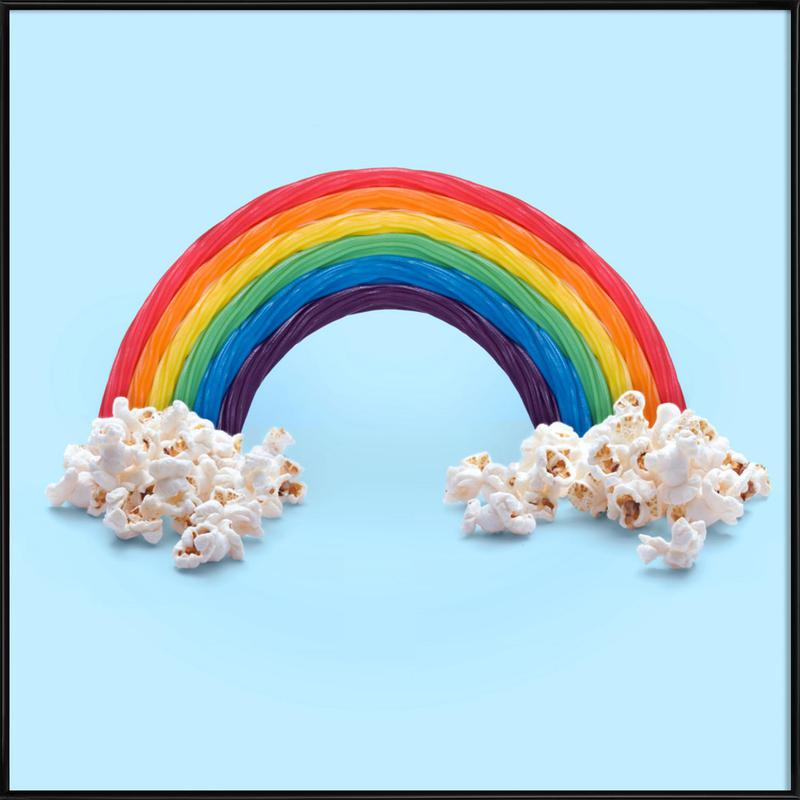 Candy Rainbow Framed Poster