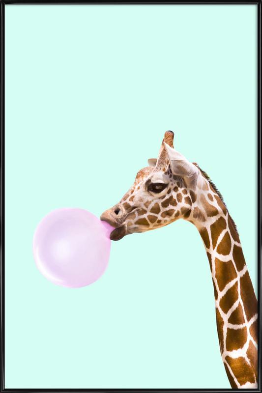 Giraffe ingelijste poster