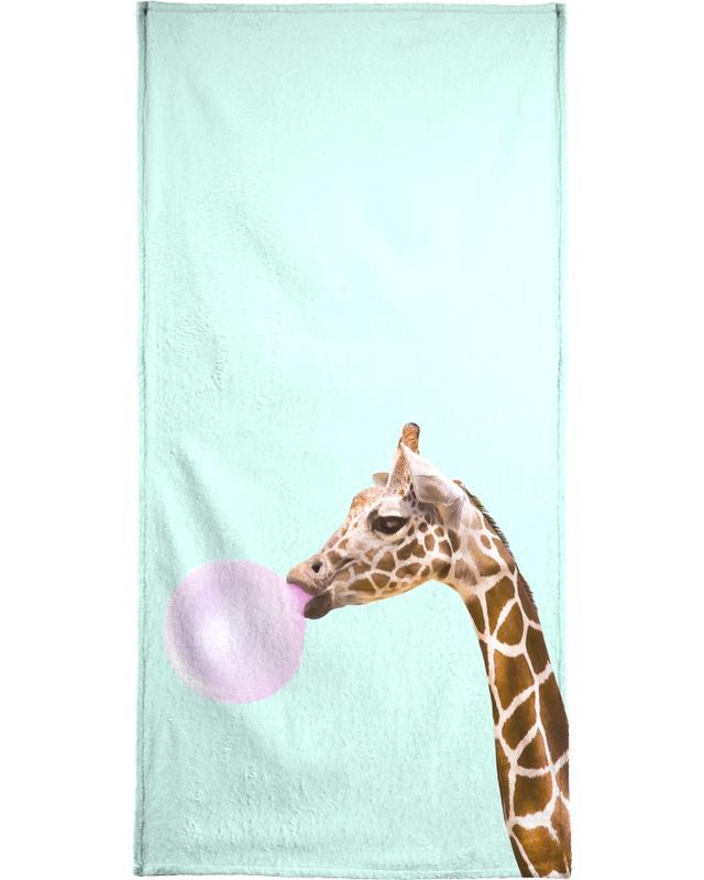 Pop Art, Lustig, Giraffen, Kinderzimmer & Kunst für Kinder, Giraffe -Strandtuch