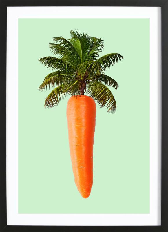 Palm Carrot Framed Print