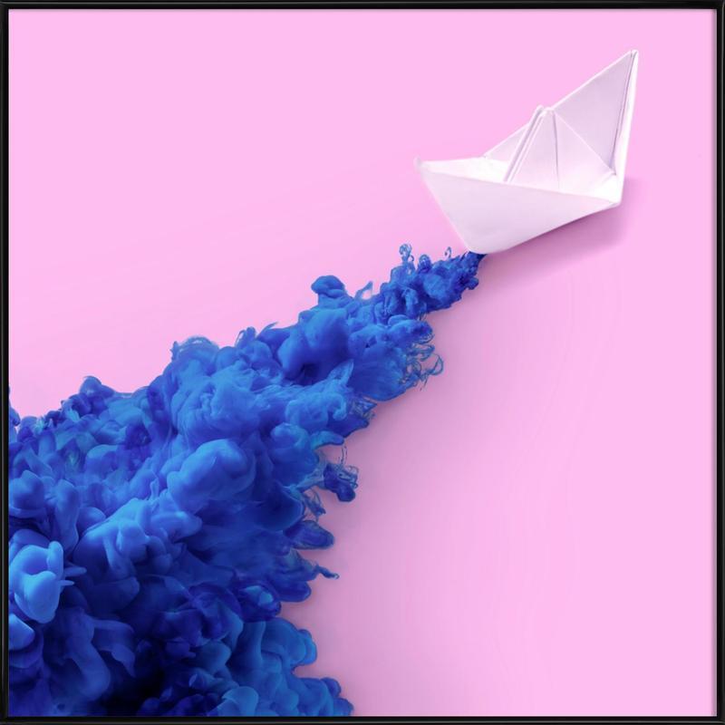 Paper Boat Framed Poster