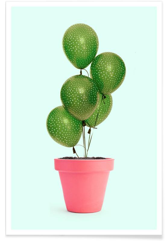 Geburtstage, Kaktus, Cactus Balloon -Poster