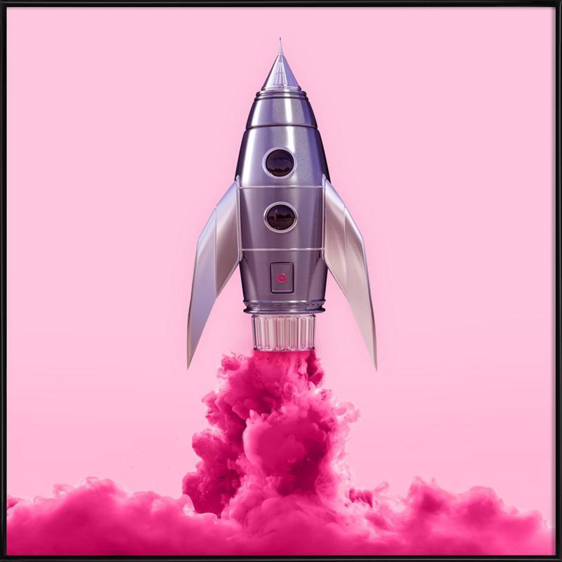 Rocket -Bild mit Kunststoffrahmen
