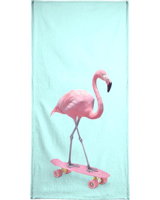 Skate Flamingo Bath Towel