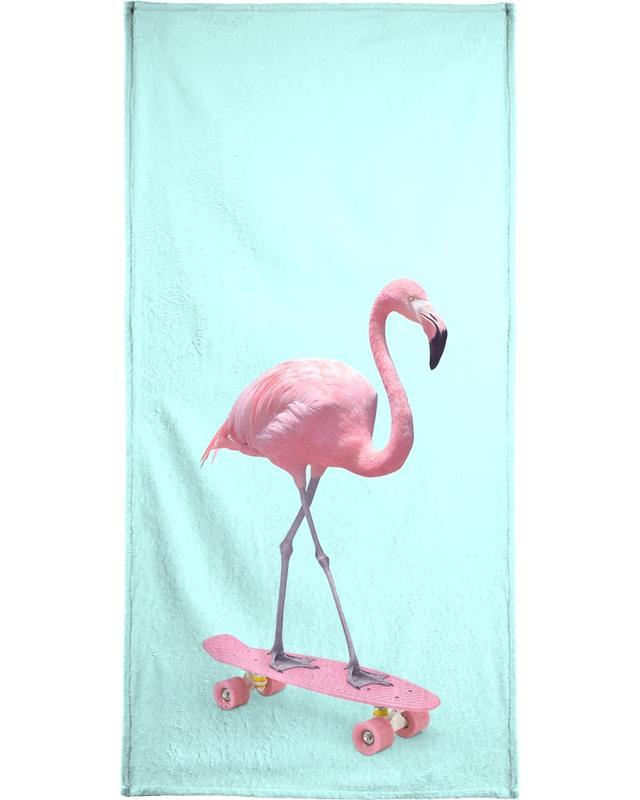 Skate Flamingo -Handtuch