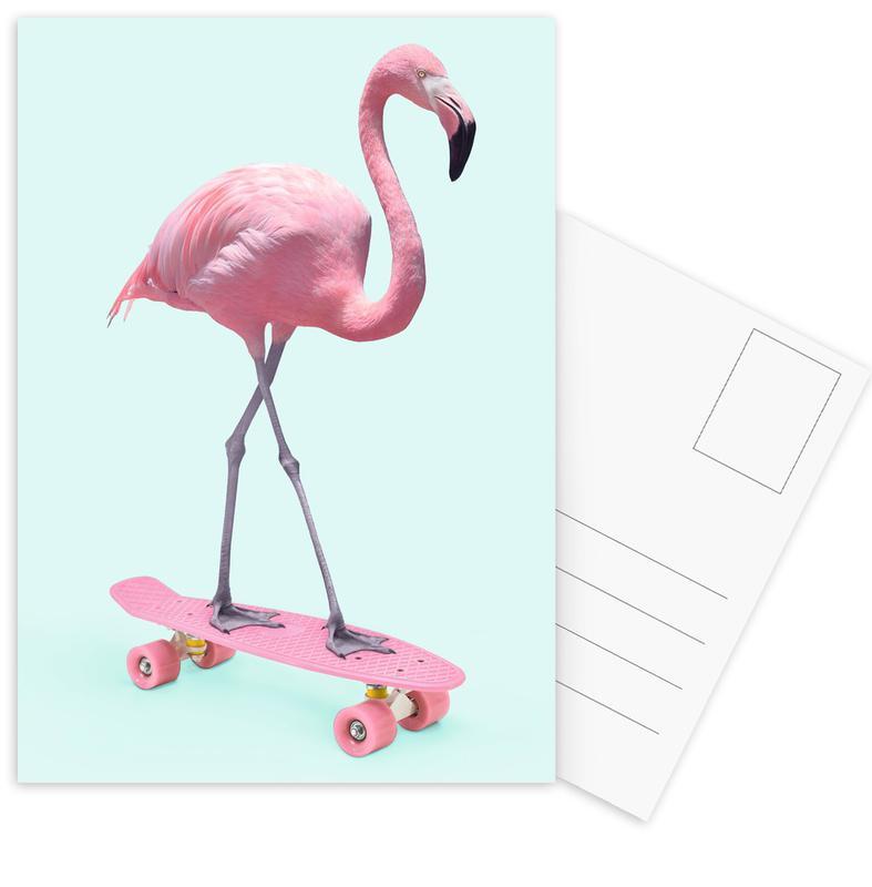 Skate Flamingo Postcard Set