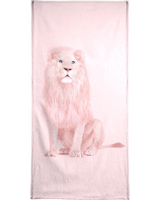 Lions, Albino Lion Bath Towel