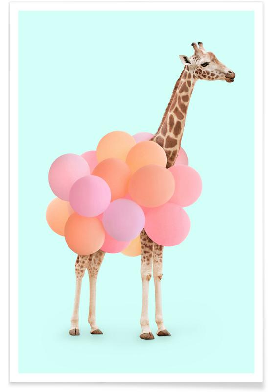 Nursery & Art for Kids, Giraffes, Birthdays, Party Giraffe Poster