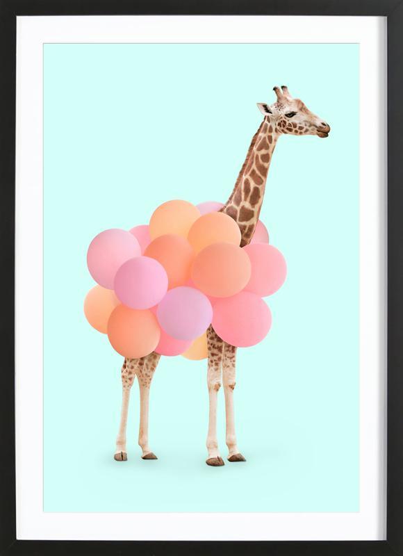 Party Giraffe ingelijste print