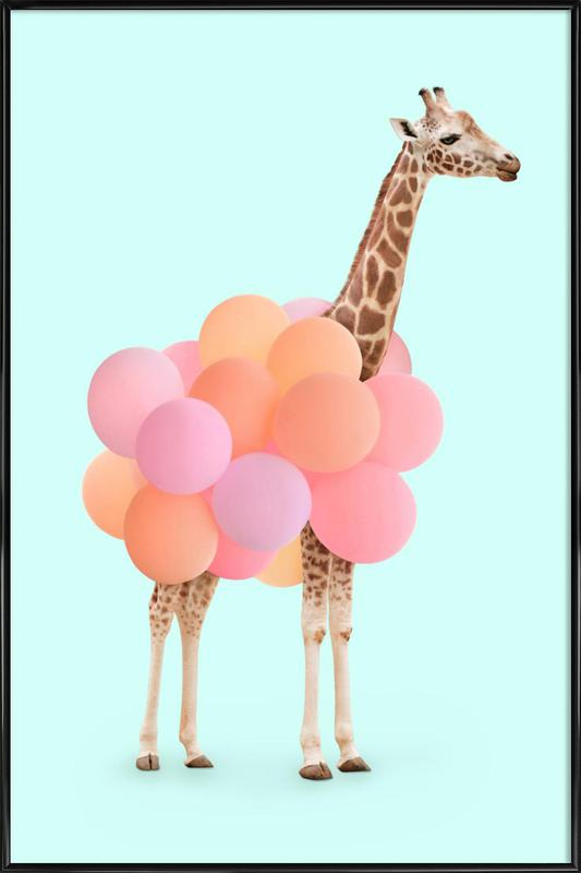 Party Giraffe ingelijste poster