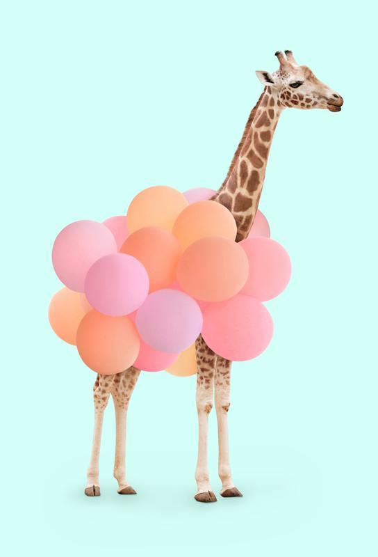 Party Giraffe Impression sur alu-Dibond