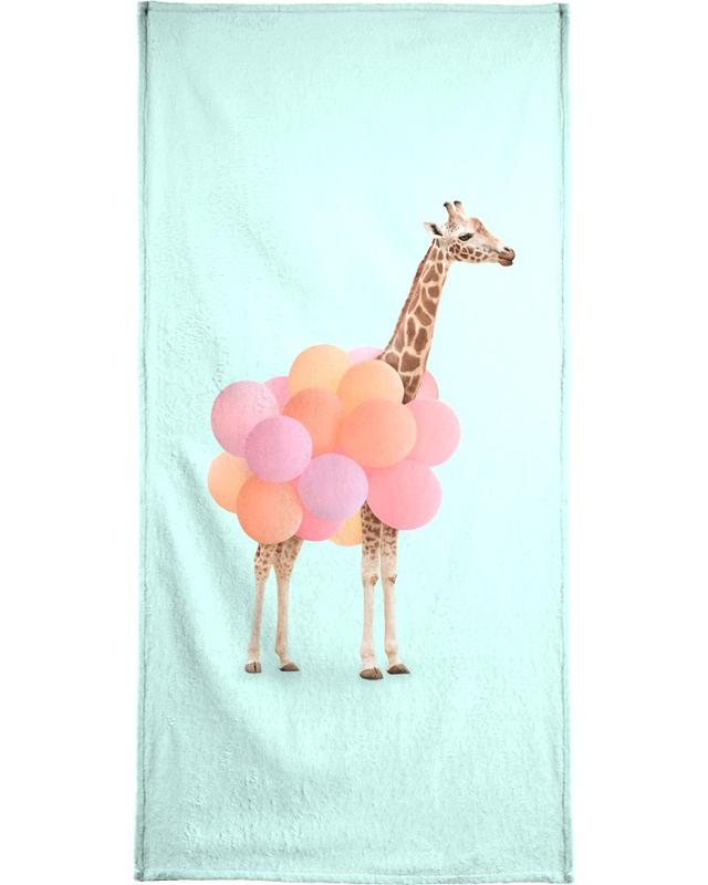 Party Giraffe Beach Towel