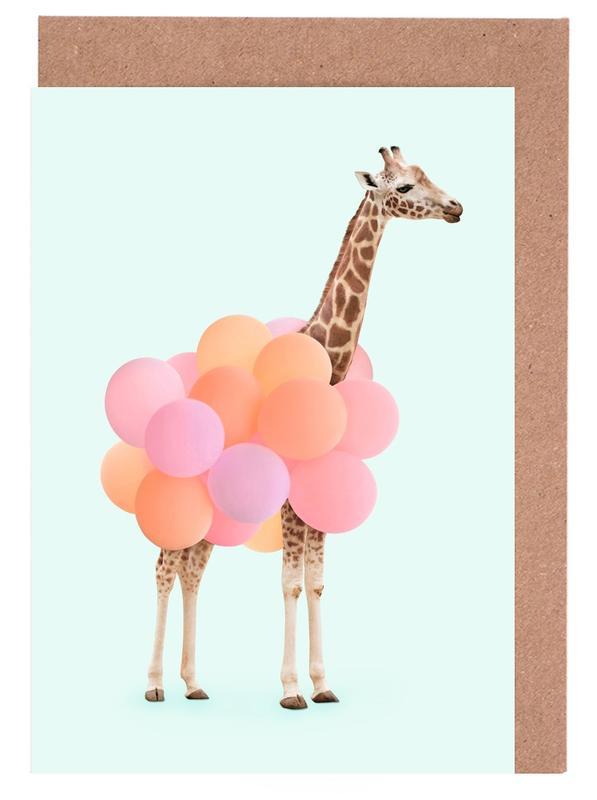 Party Giraffe -Grußkarten-Set